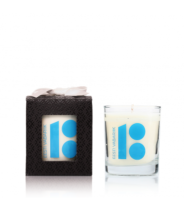 Estonia 100 years anniversary candle White