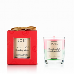 """Scented candle in the box """"Strawberries and rhubarb"""""""