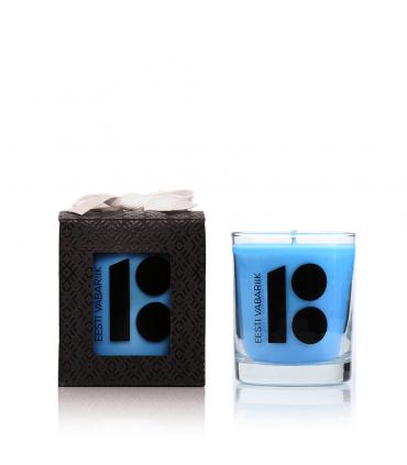 Estonia 100 years anniversary candle Blue 145 g