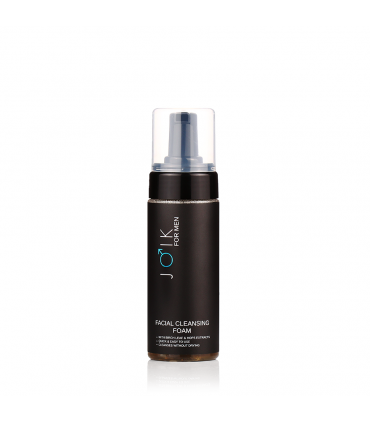 Cleansing facial foam for men with birch leaf & hops extracts & aloe juice