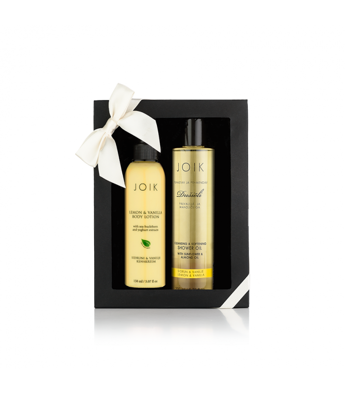 Lemon-vanilla shower time gift box