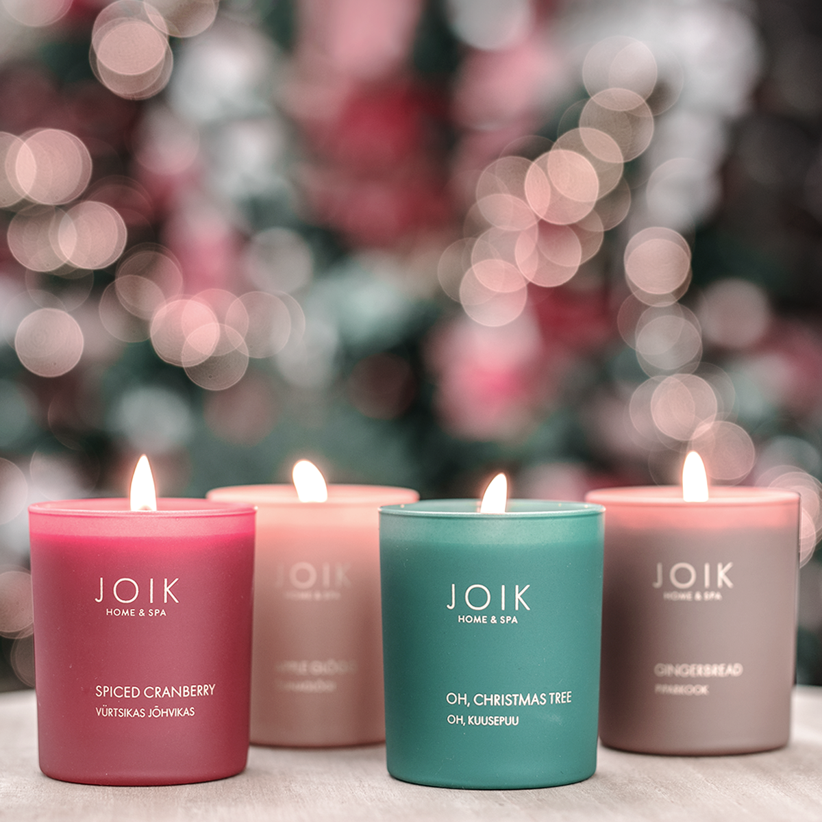 Christmas inside candles!